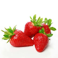 Strawberry with fruit pieces